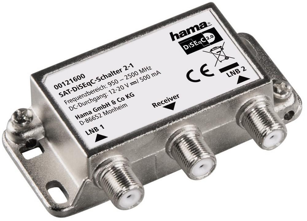 Artikelbild Hama Antennenweiche 121600 SAT-DiSEqC-Schalter 2-1