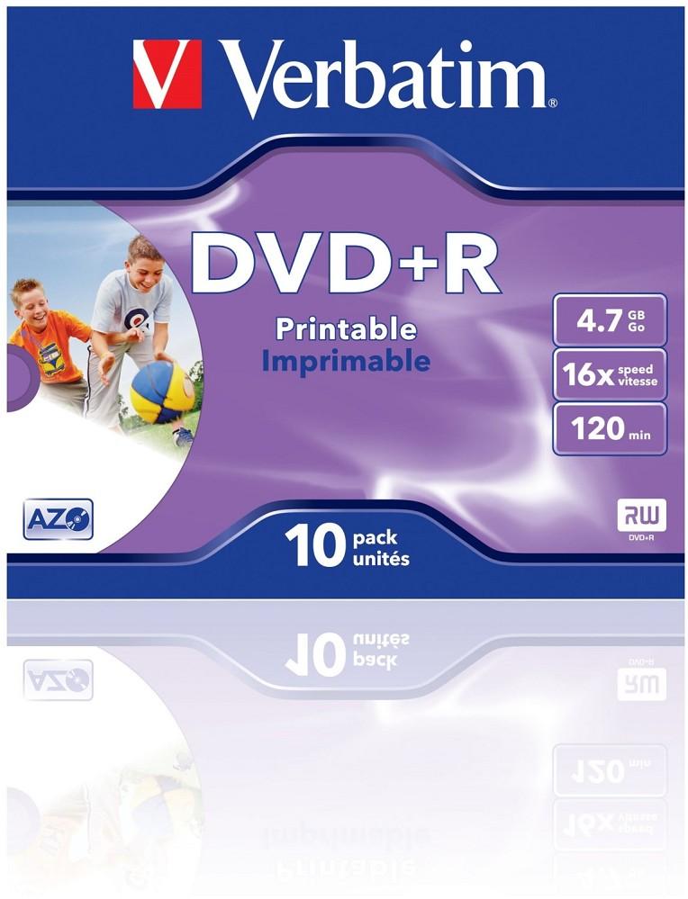 Artikelbild Verbatim DVD - Rohlinge DVD+R AZO 16x 4.7GB (10er JC) Rohlinge