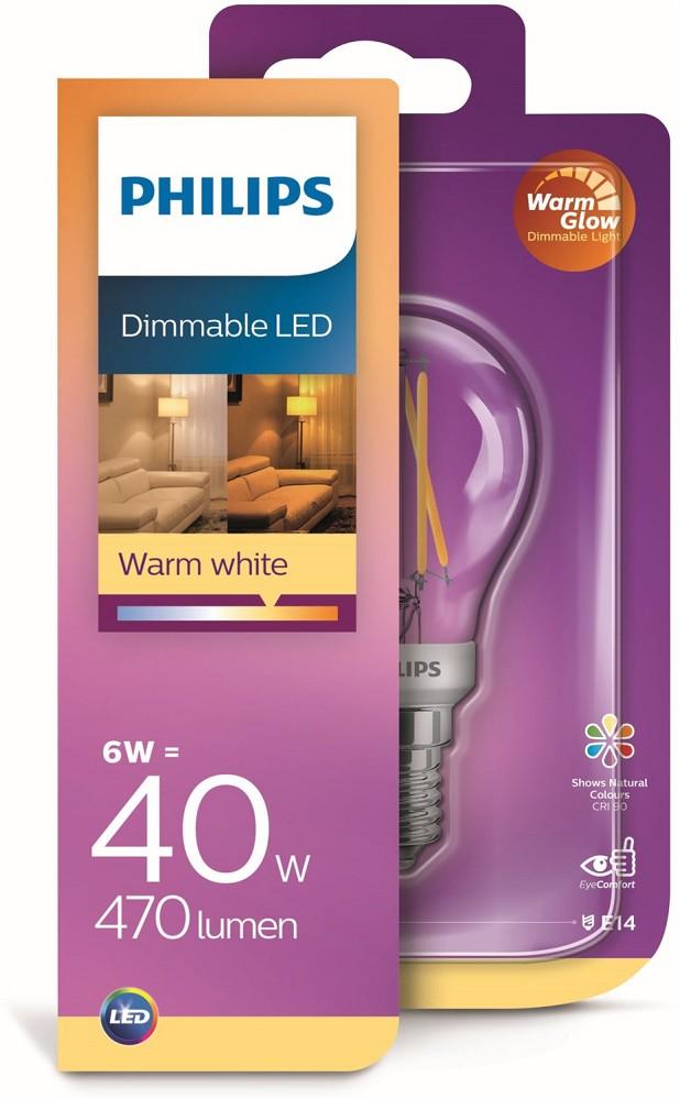 Artikelbild Philips LED-Lampen LEDClassic 40W P45 E14 CL WGD90